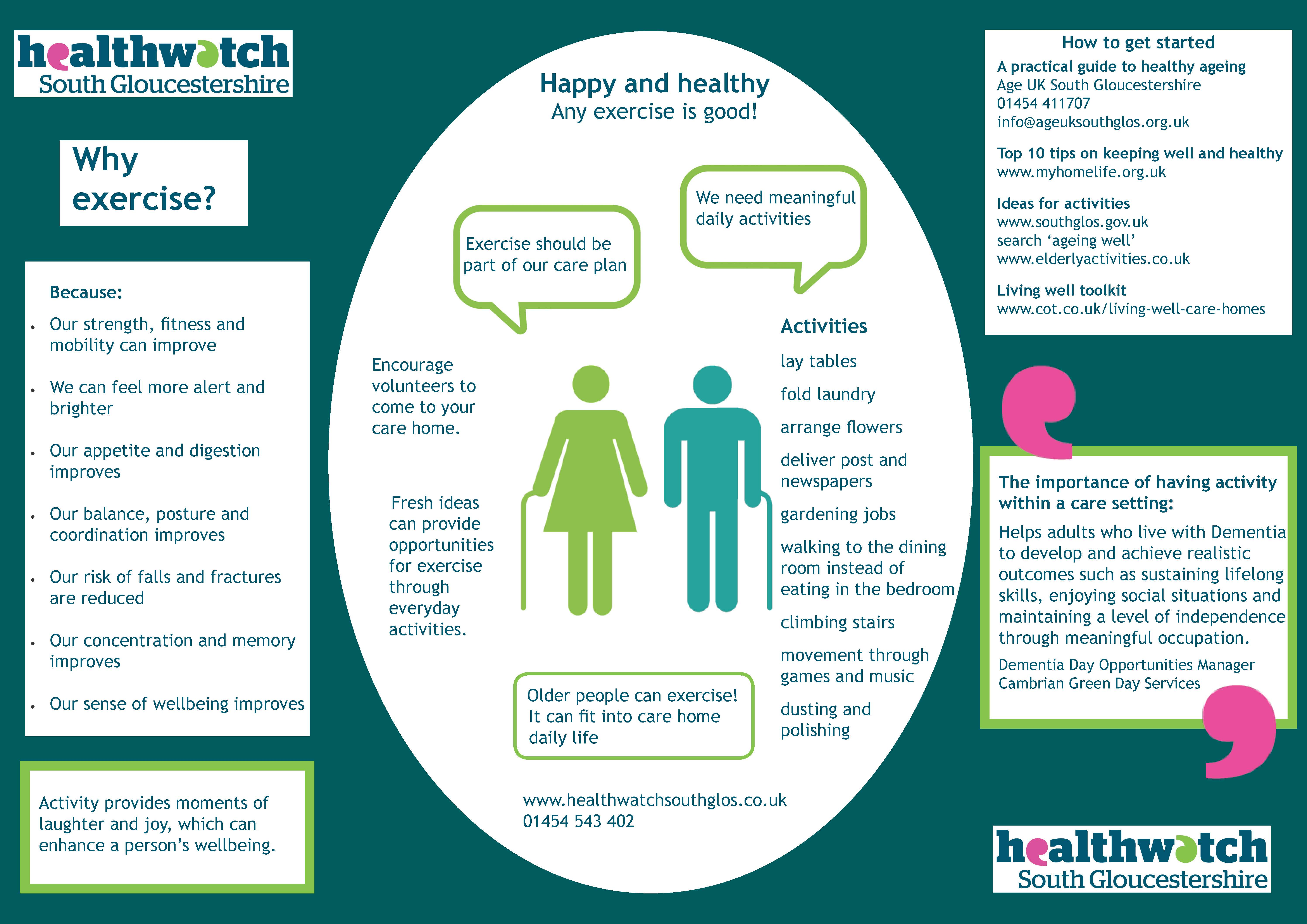Healthwatch Encourages Exercise in Care Homes - Healthwatch South ...